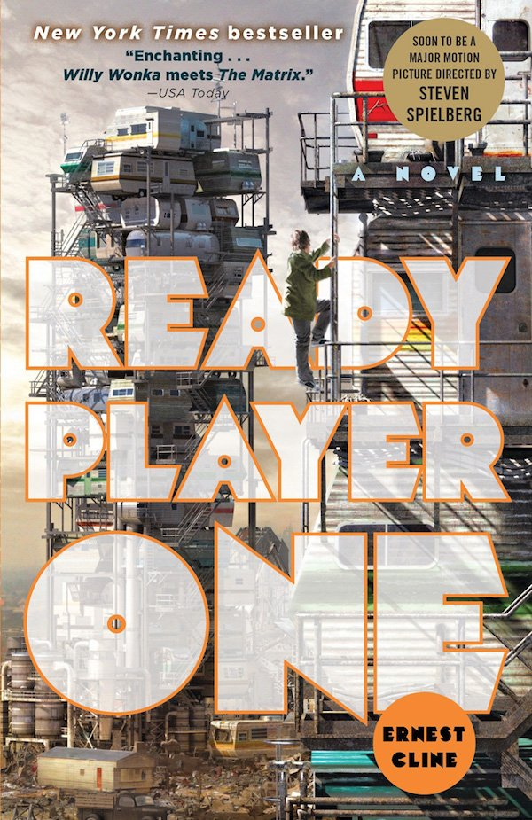 The cover of Ready Player One by Ernest Cline. Click for more details.