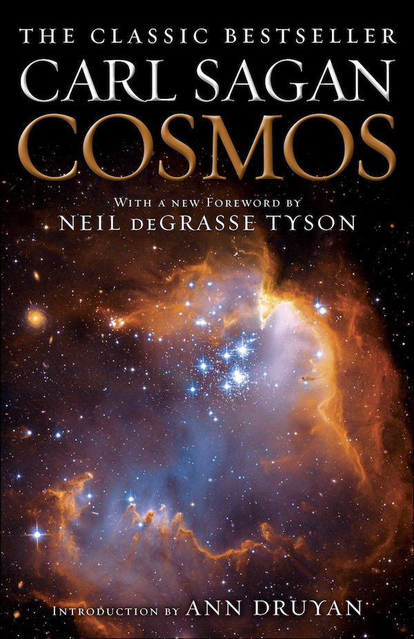 The cover of Cosmos by Carl Sagan. Click for more details.
