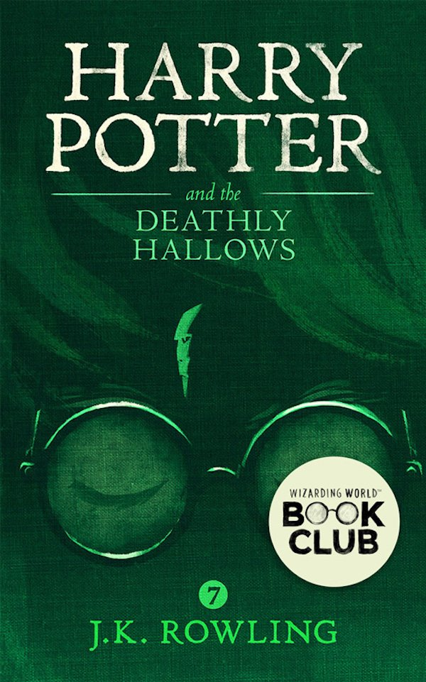 The cover of Harry Potter and Deathly Hallows by J.K. Rowling. Click for more details.