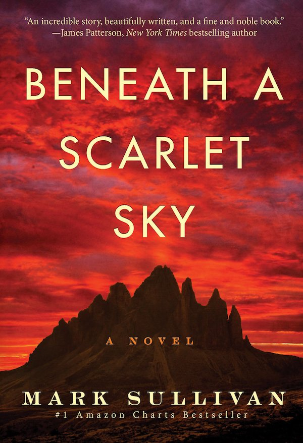 The cover of Beneath a Scarlet Sky: A Novel by Mark Sullivan. Click for more details.