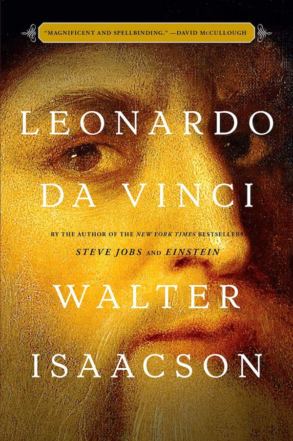 The cover of Leonardo da Vinci by Walter Isaacson. Click for more details.