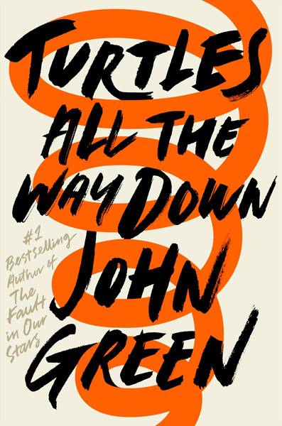 The cover of Turtles All the Way Down by John Green. Click for more details.