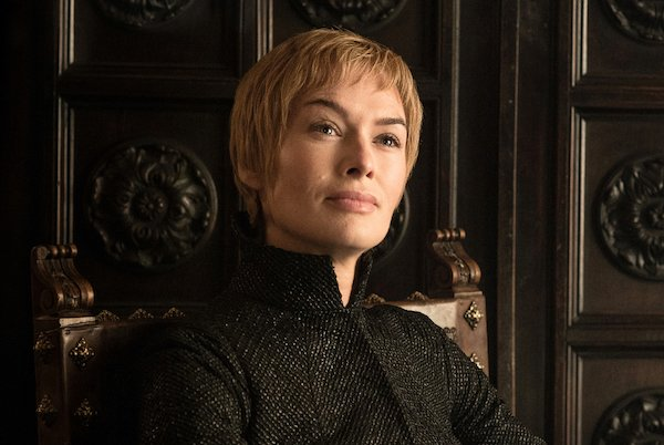 A picture of a scene from the Game of Thrones series, showing Queen Cersei as played by Lena Headey.