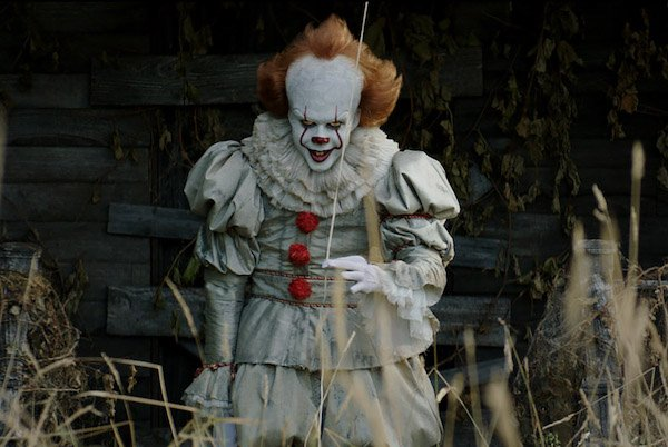 A promotion image for the movie It.