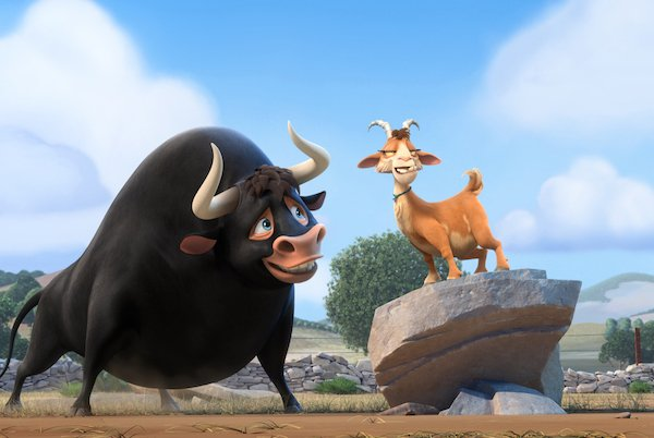 A picture of a scene from the Ferdinand movie.
