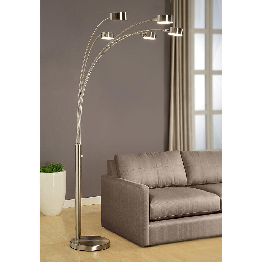 Amazon artiva usa micah 5 arc brushed steel floor lamp w from the manufacturer keyboard keysfo Choice Image