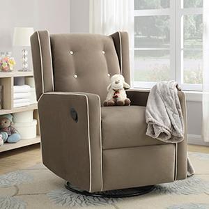 Amazon Com Baby Relax Mikayla Upholstered Swivel Gliding