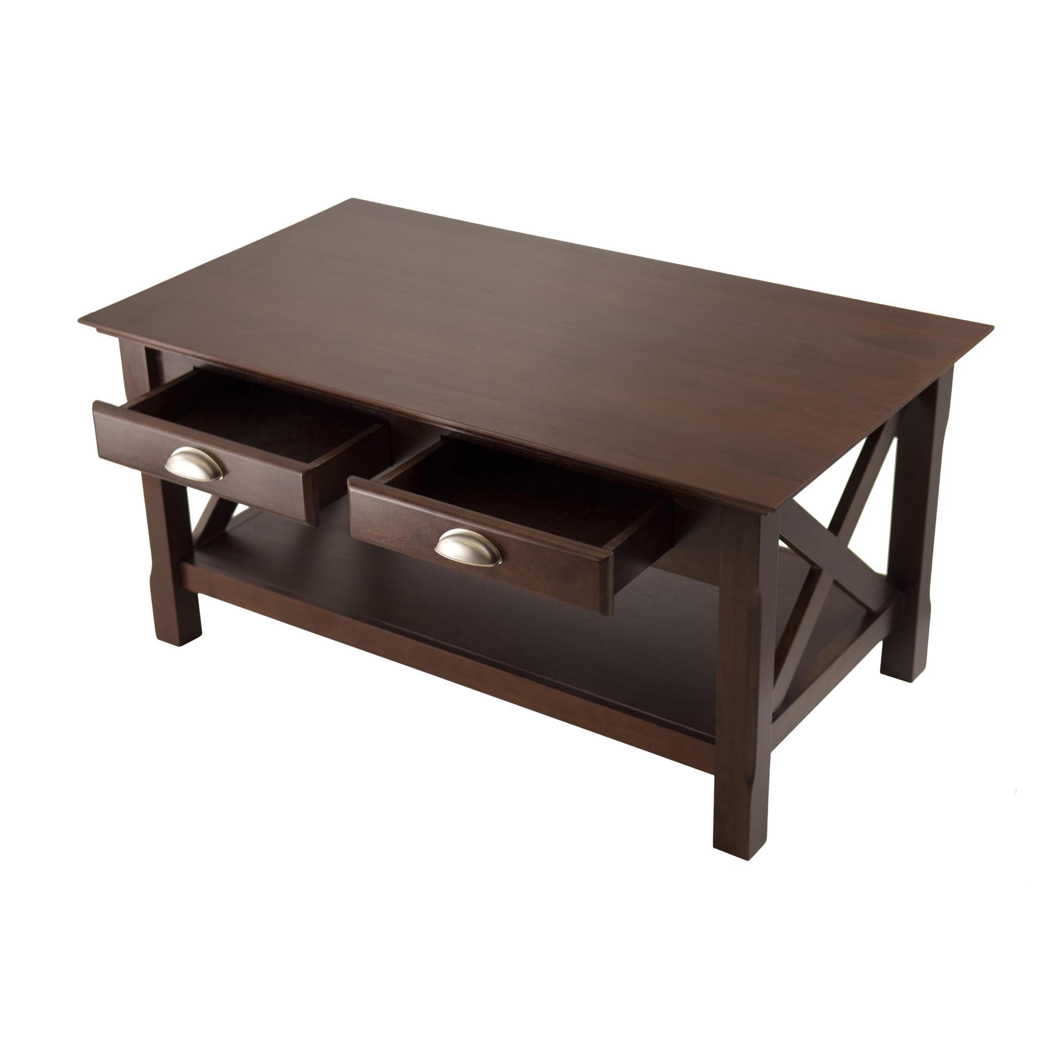 Amazon Winsome Wood Xola Coffee Table Cappuccino Finish