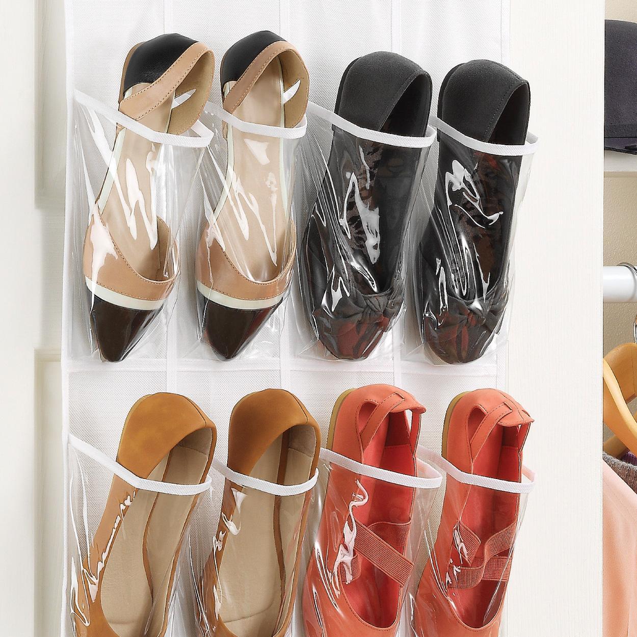 View larger & Amazon.com: Whitmor OTD Shoe Bag 24 Pocket White Crystal: Home ... Pezcame.Com