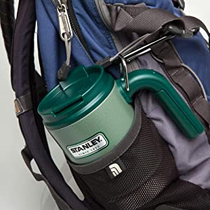 clip, portable, carry, bring, take, travel, commute, hot, drink, coffee, ring, clip, backpack