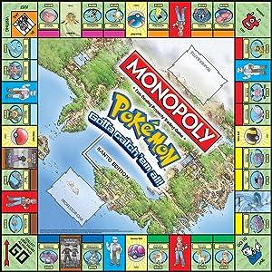 pokemon monopoly, pokemon game, kanto game, pokemon kanto board game