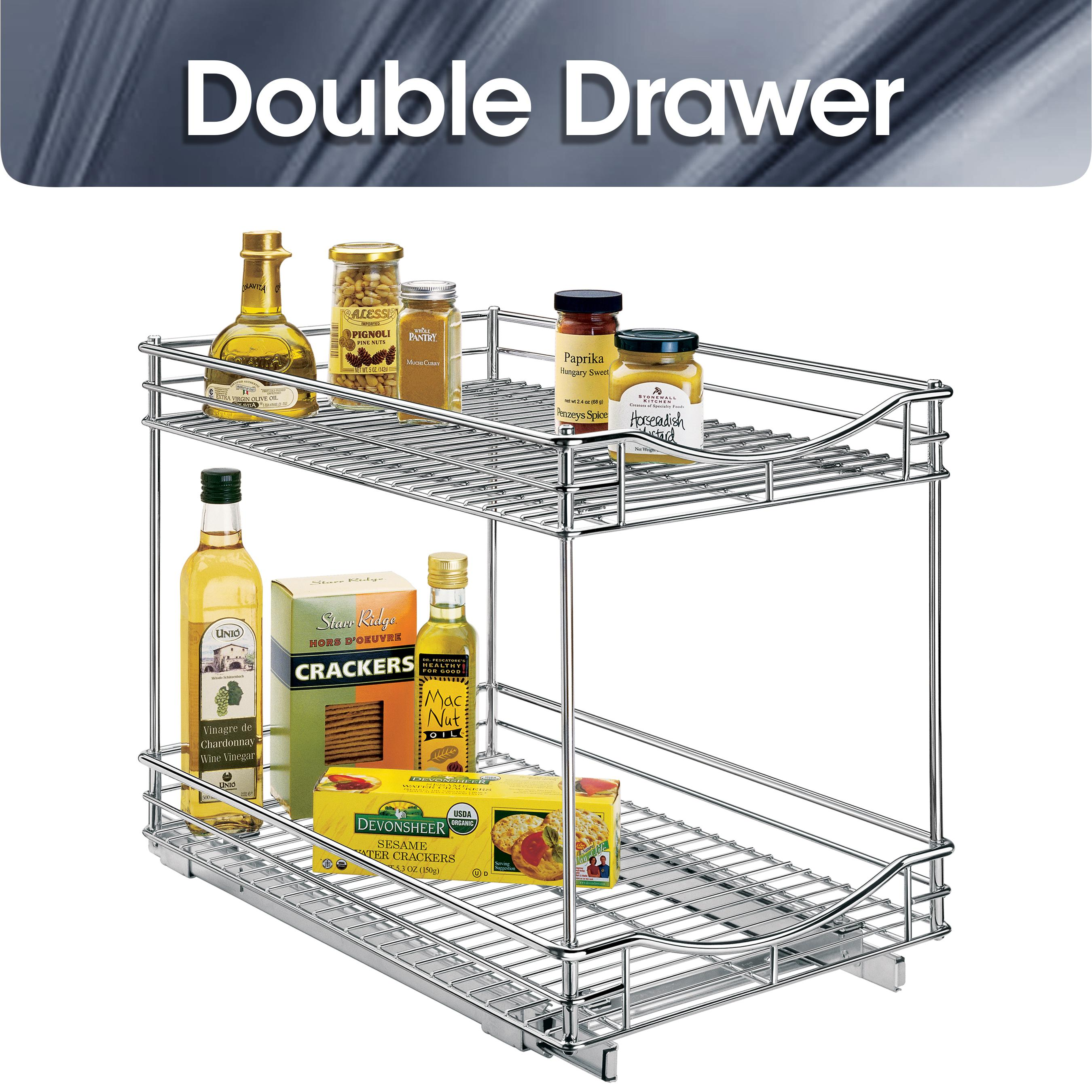 Lynk Chrome Roll Out Cabinet Drawers