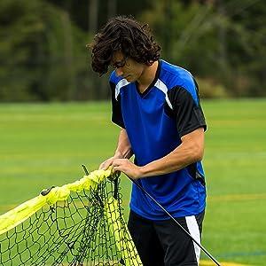 portable soccer goal, soccer goal, flexible soccer goal, quick setup soccer goal, goal, soccer
