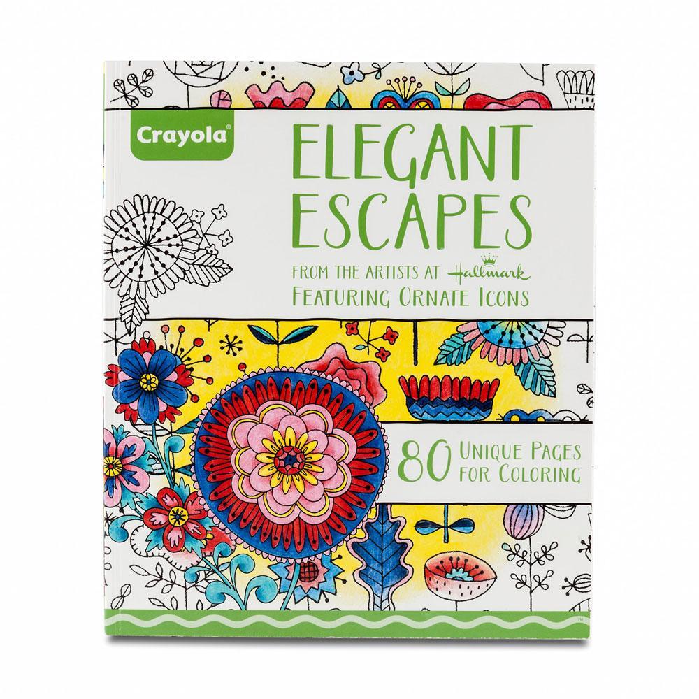crayola elegant escapes coloring book hero image - Crayola Coloring Book