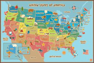 Amazoncom Wall Pops WPE Kids USA Dry Erase Map Decal Wall - Us state sticker map