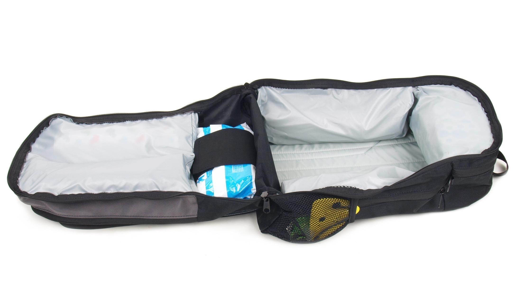 dadgear backpack diaper bag black retro stripe diaper tote b. Black Bedroom Furniture Sets. Home Design Ideas
