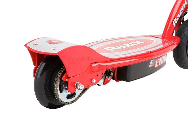 Razor e100 kick scooter red electric kid safe ride on 24v for Razor e300 electric 24 volt motorized ride on kids scooter