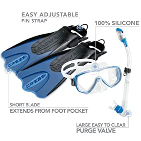 adult snorkel equipment, snorkel gear 180, snorkel gear prime,