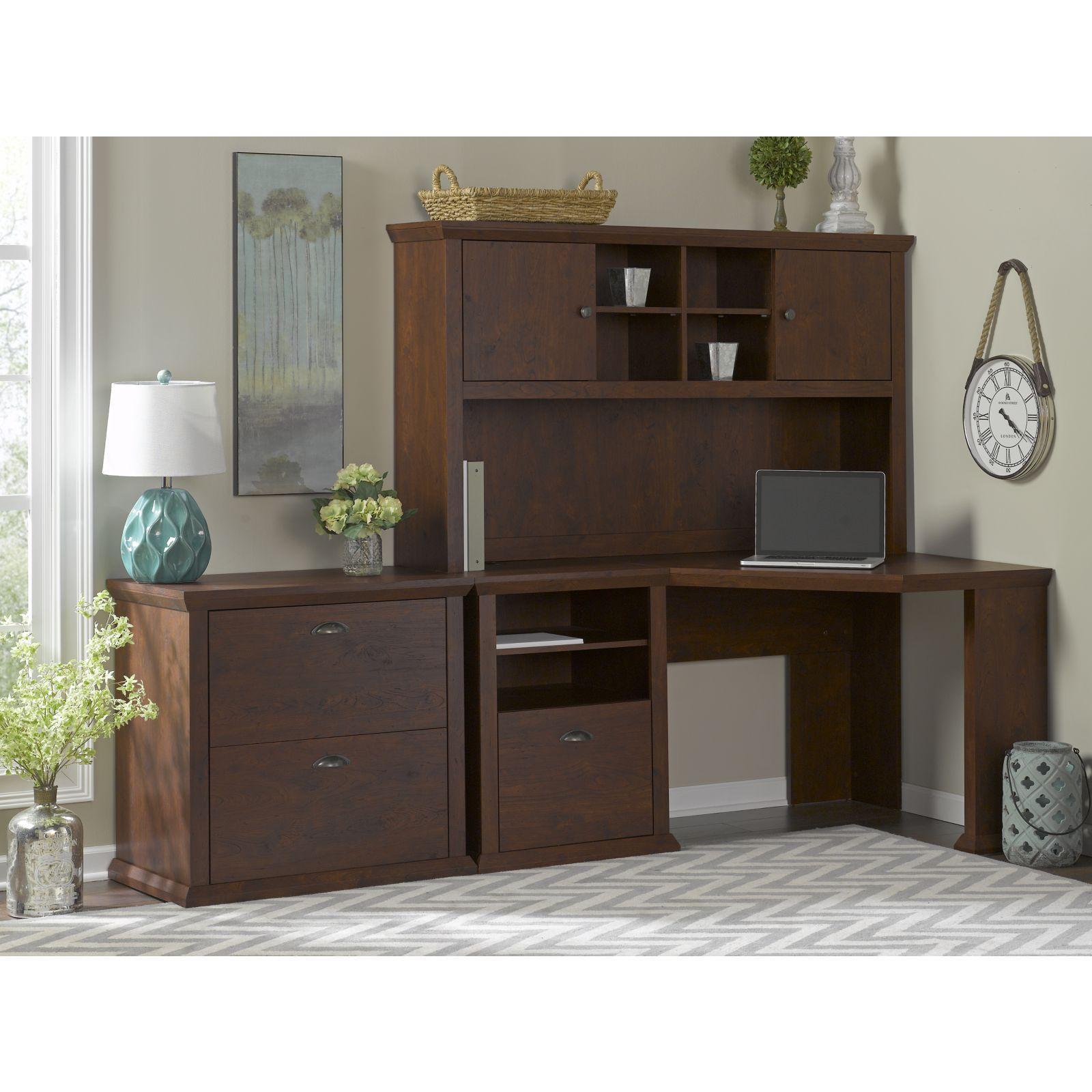 Amazon.com: Bush Furniture Yorktown Home Office Desk In