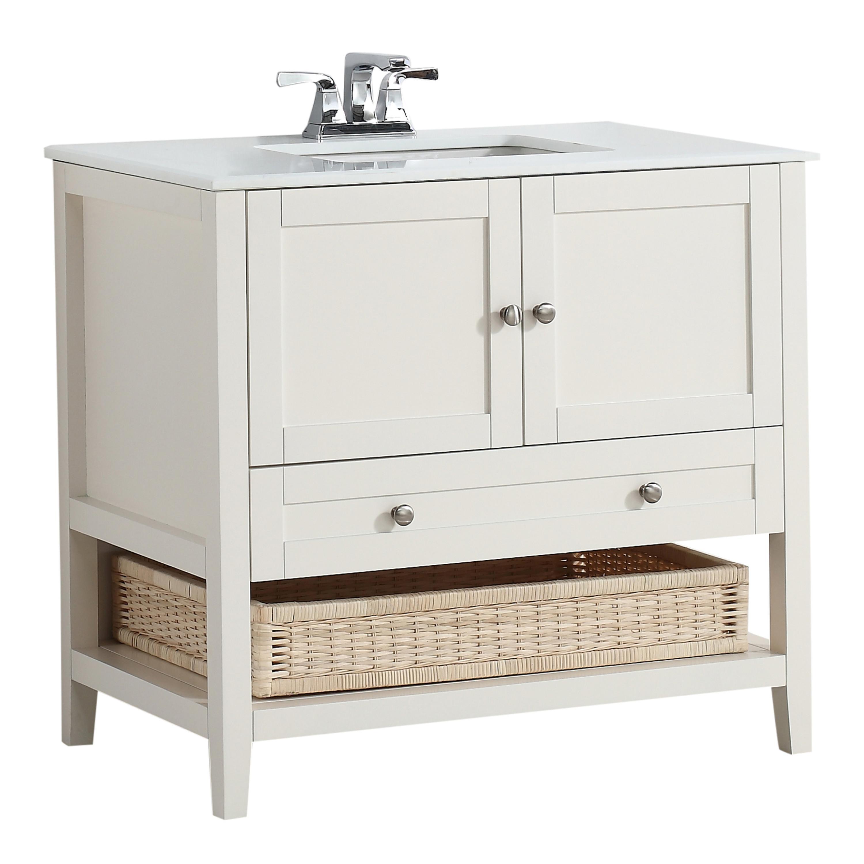 Amazon Com Simpli Home Cape Cod 36 Quot Bath Vanity With