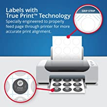 Avery labels with True Print technology