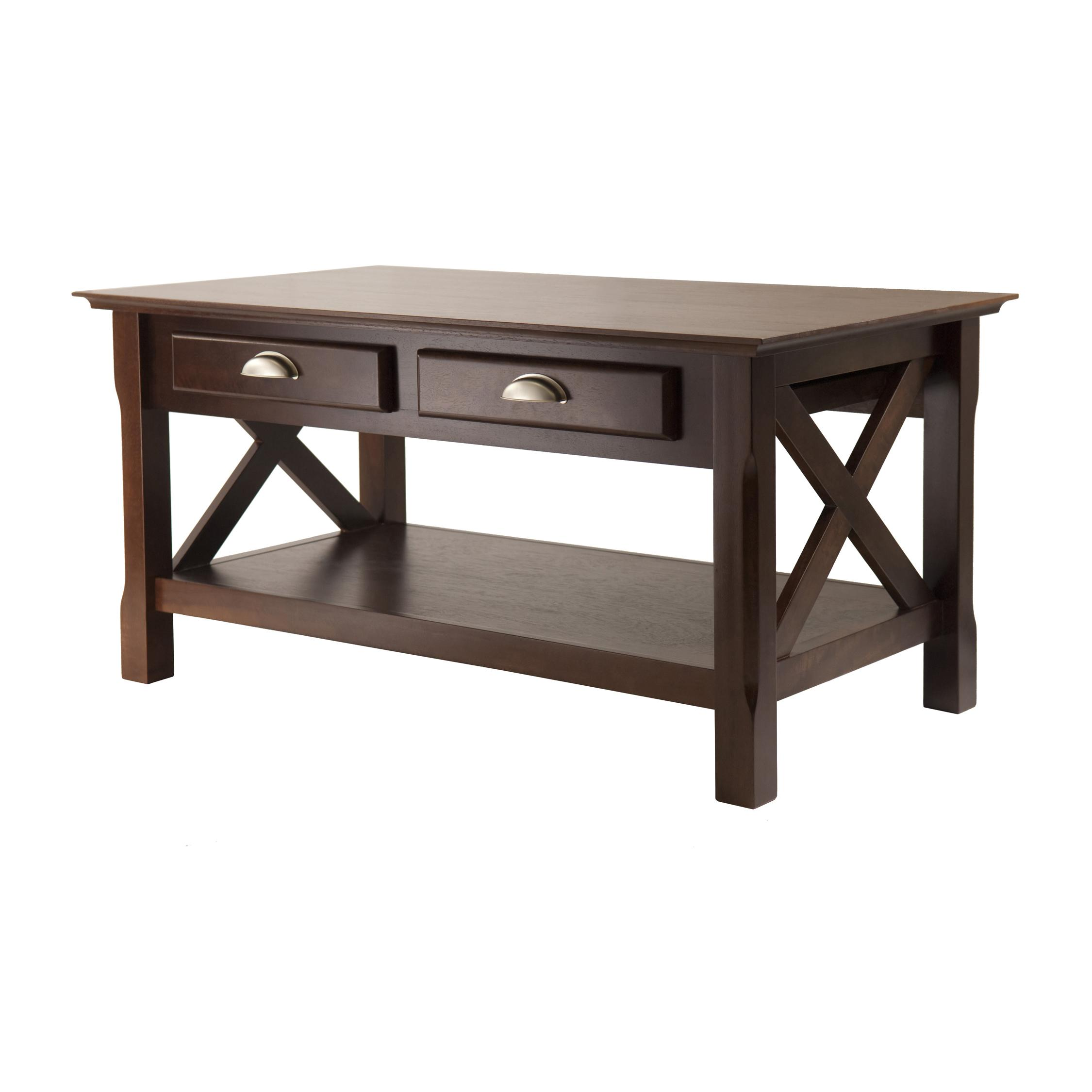 Amazon Winsome Wood Xola Coffee Table Cappuccino Finish