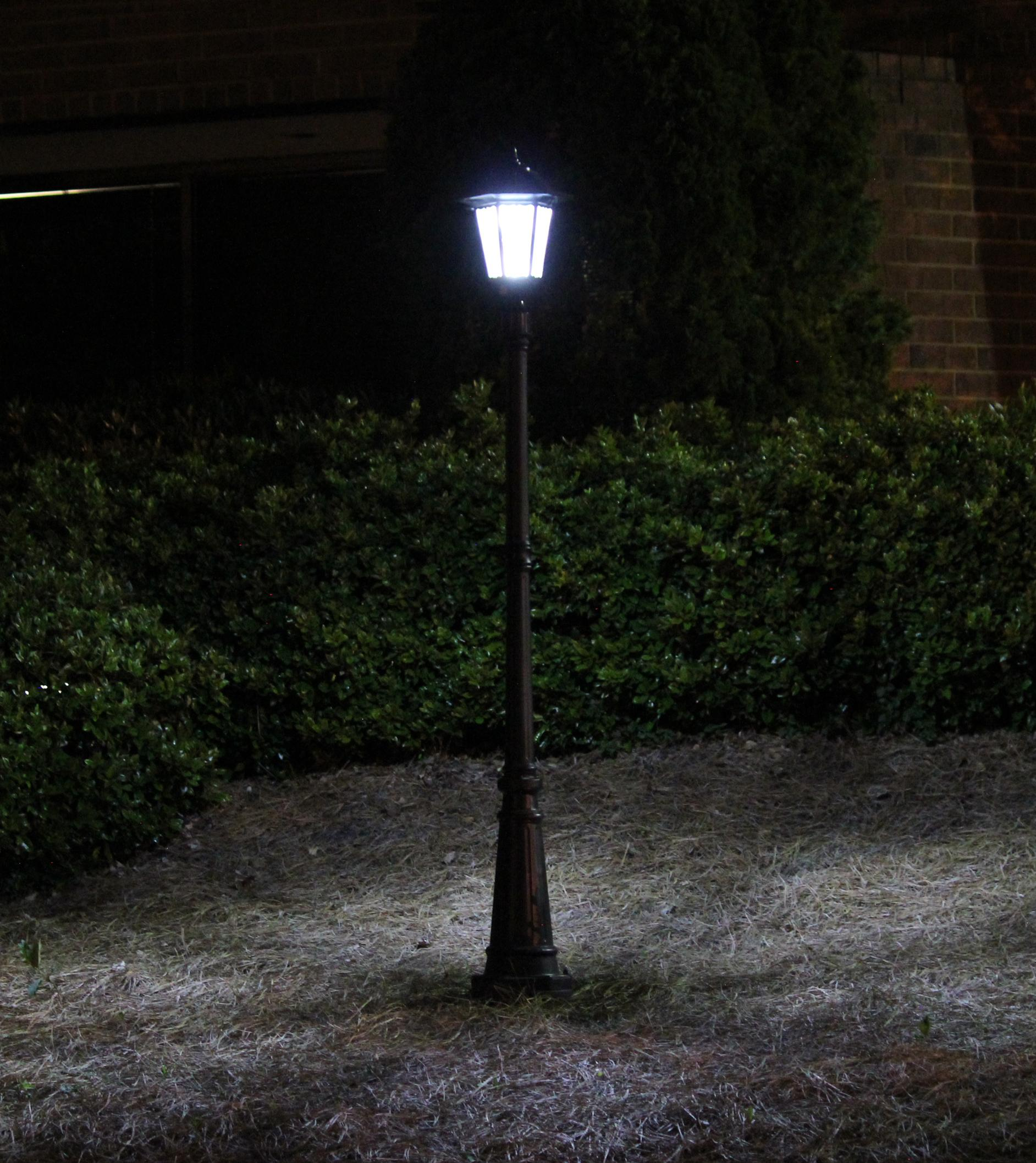 Amazon.com : Gama Sonic Windsor Solar Outdoor LED Light Fixture, 3 ...