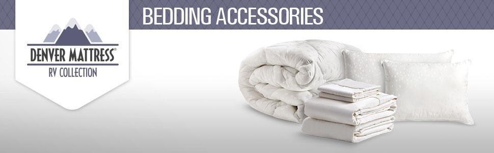 denver 343497 rv king size mattress pad white automotive. Black Bedroom Furniture Sets. Home Design Ideas