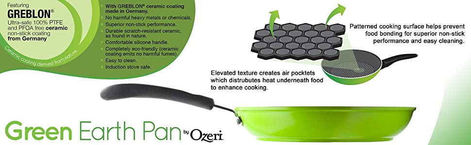 Amazon Com 8 Quot Green Earth Frying Pan By Ozeri With