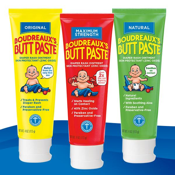 boudreaux 39 s butt paste diaper rash ointment original 4 ounce diaper creams baby. Black Bedroom Furniture Sets. Home Design Ideas