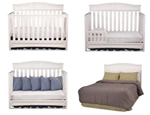 crib, convertible, bell, shaped, emery, classic, timeless, nursery, furniture, delta, children