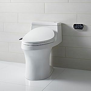 white toilet with black seat. C3  230 Toilet Seat at a Glance KOHLER K 4108 0 Elongated Bidet with
