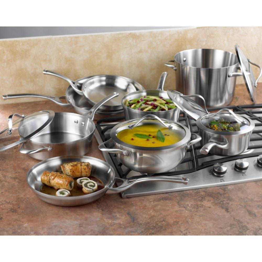 Cookware, Dining & Bar Special Section Ssw Pro King Cooking Pot Set Pots Glass Lid Casserole Stainless Steel 7 Piece 100% High Quality Materials