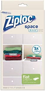 Amazon Com Ziploc Space Bag Flat Medium 2 Count