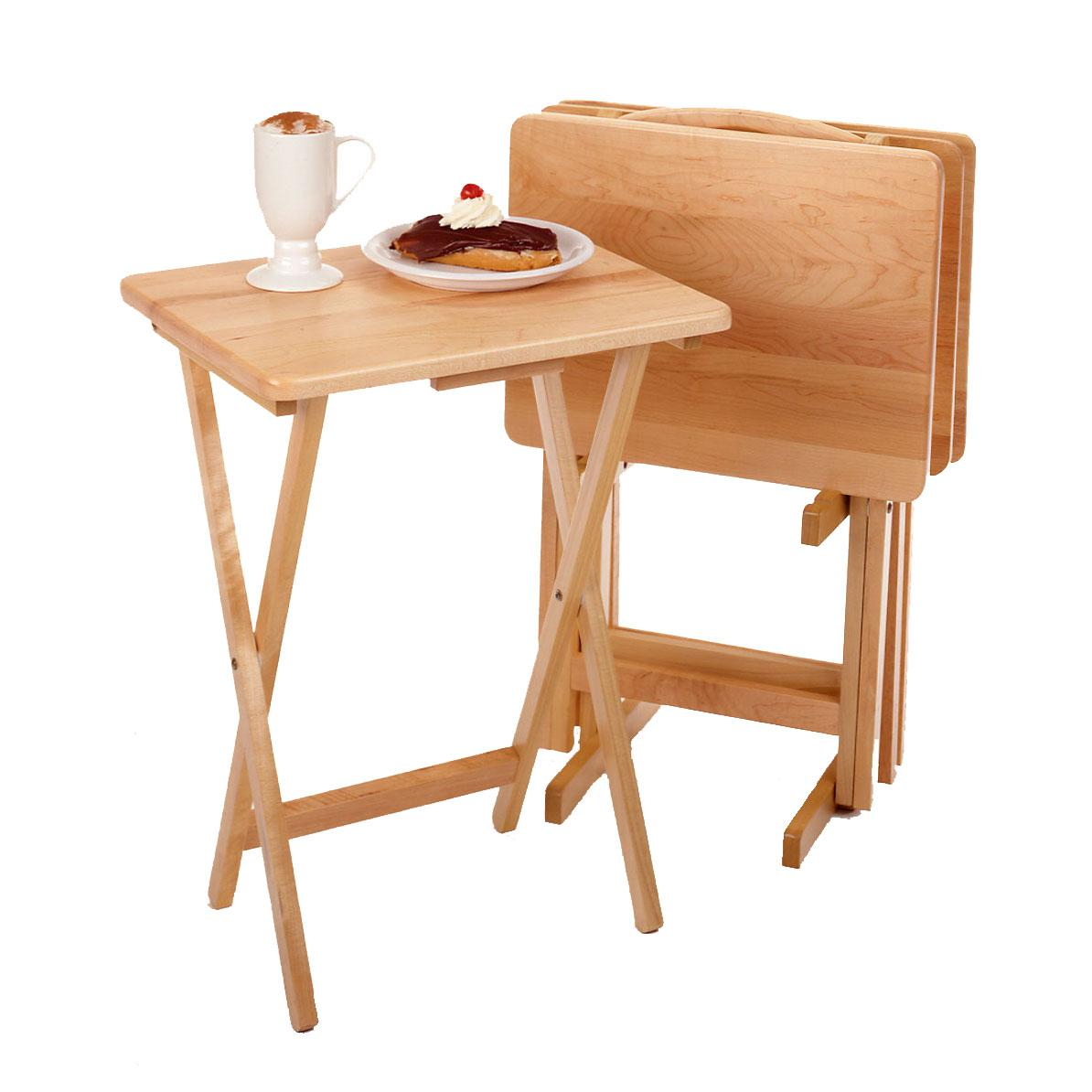 View larger. Amazon com  Winsome Wood 42520 Alex Snack Table Natural Set 5 Pc