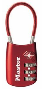 4688DRED TSA Accepted Cable Luggage Lock