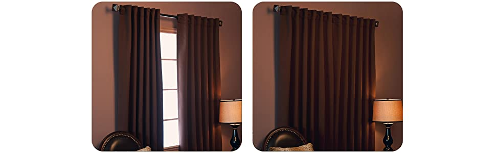 Curtains Ideas black and khaki curtains : Amazon.com: Best Home Fashion Thermal Insulated Blackout Curtains ...