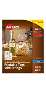 Avery Printable square tags