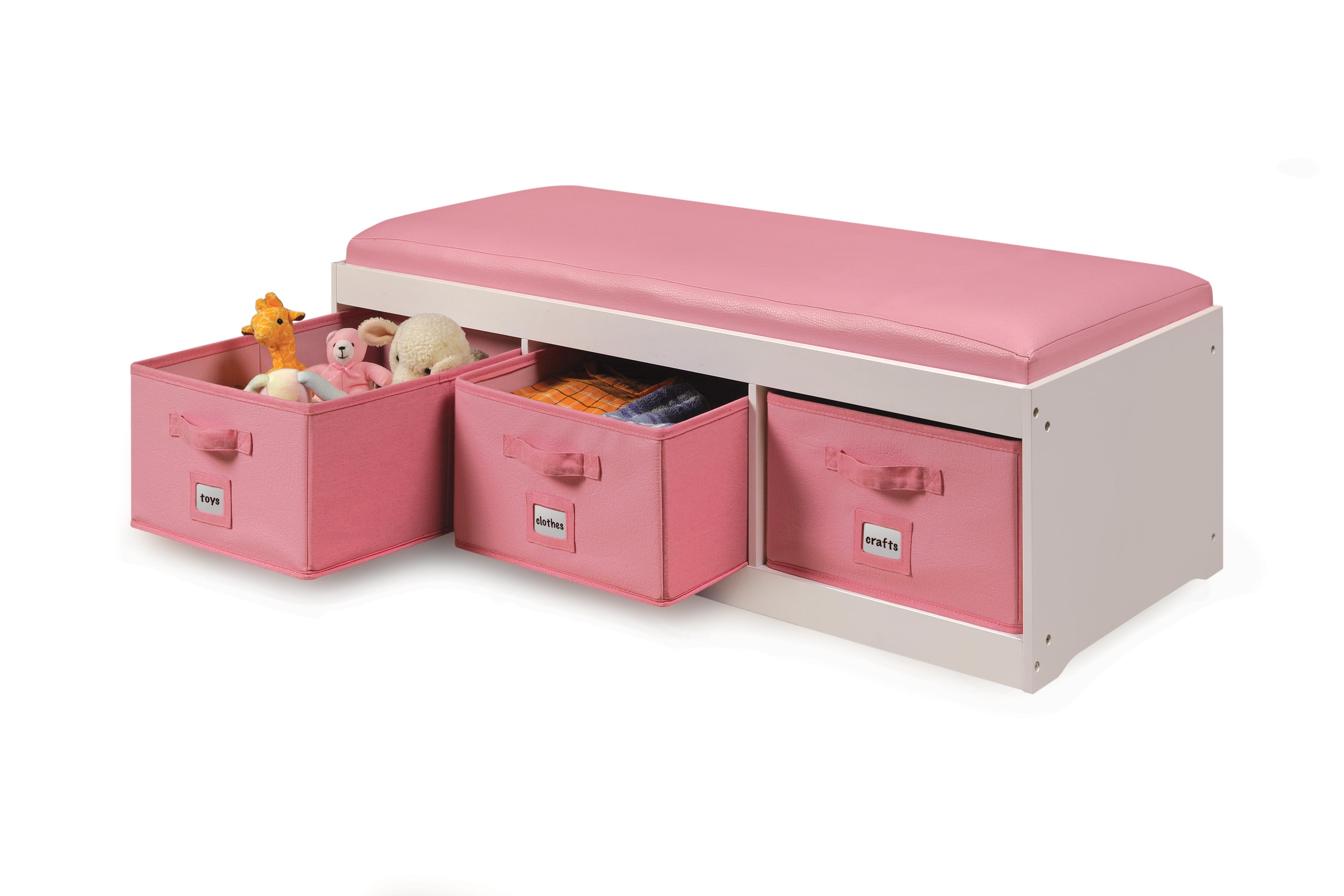 View larger  sc 1 st  Amazon.com & Amazon.com : Badger Basket Kidu0027s Storage Bench with Cushion and 3 ... islam-shia.org
