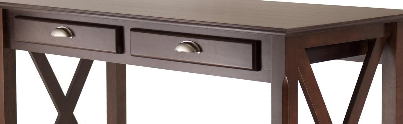 Amazon Com Winsome Wood Xola Console Table Cappuccino