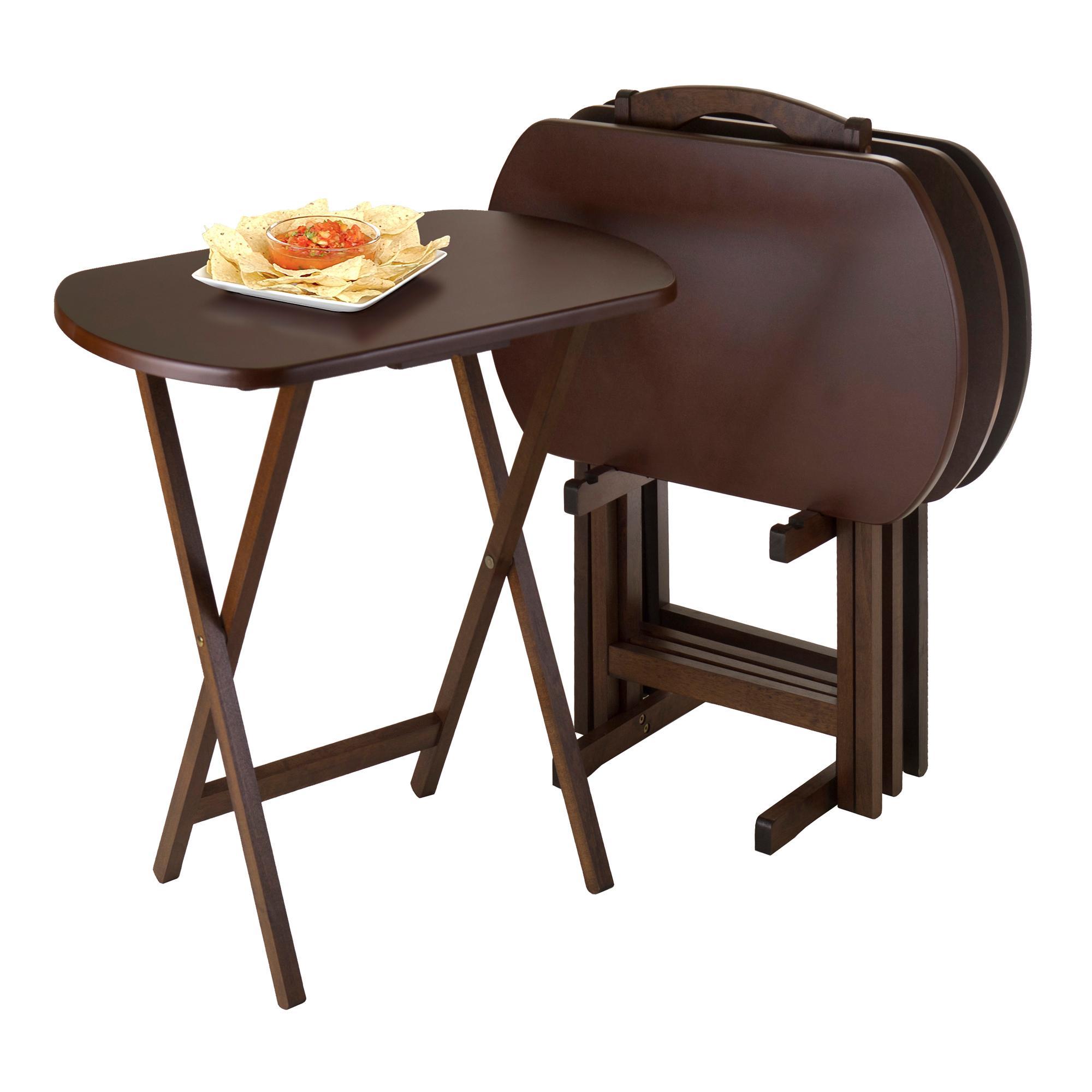 Corbett 5pc Oversize Oblong Snack Table