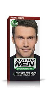 Amazon.com : Just For Men Mustache & Beard, Dark Brown (Pack of 3 ...