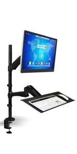 "MI-7921 Sit Stand Ergonomic Desk Mount for 27"" LCD monitor screen sizes"