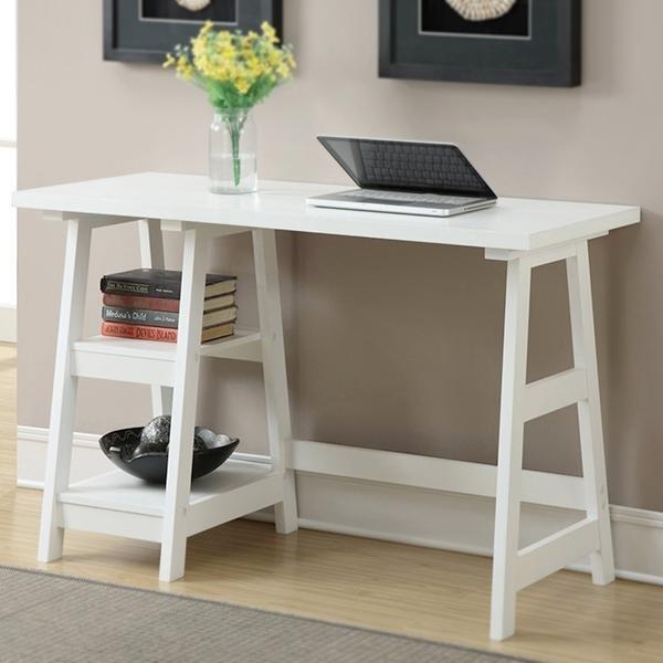 Amazon.com: Convenience Concepts Designs2Go Trestle Desk, Cherry