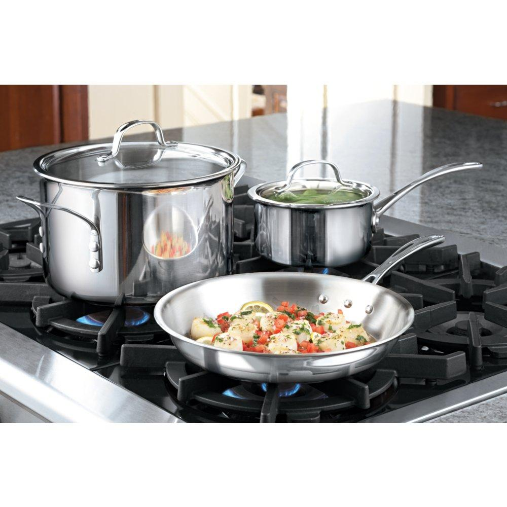Amazon.com: Calphalon Tri-Ply Stainless Steel Cookware, Dutch Oven ...