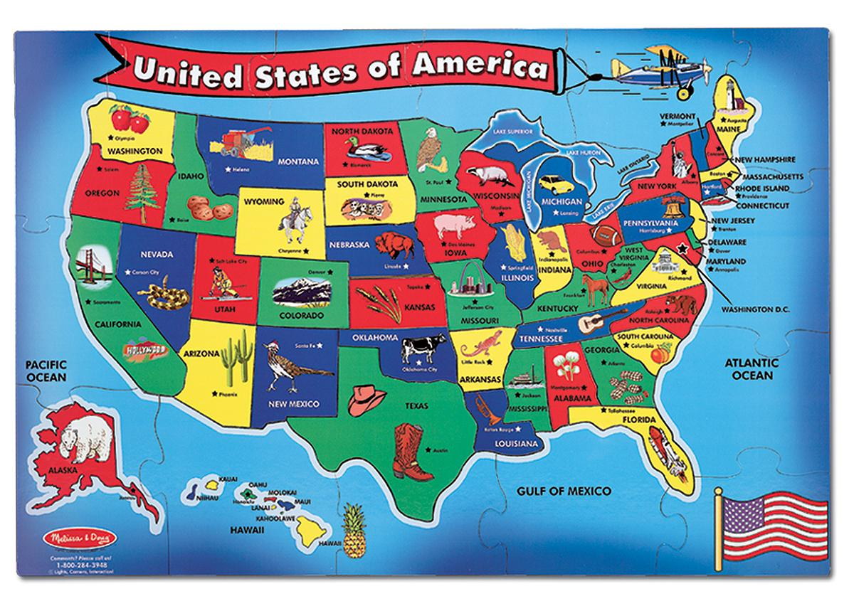 Us Map Puzzle State Capitals Learning States And Capitals Fun Best Us Map Puzzle For