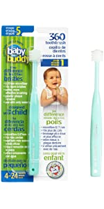 Amazon Com Baby Buddy 360 Toothbrush Step 2 Stage 6 For