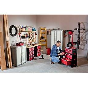 Amazon Com Keter 5 Drawer Modular Garage And Tool