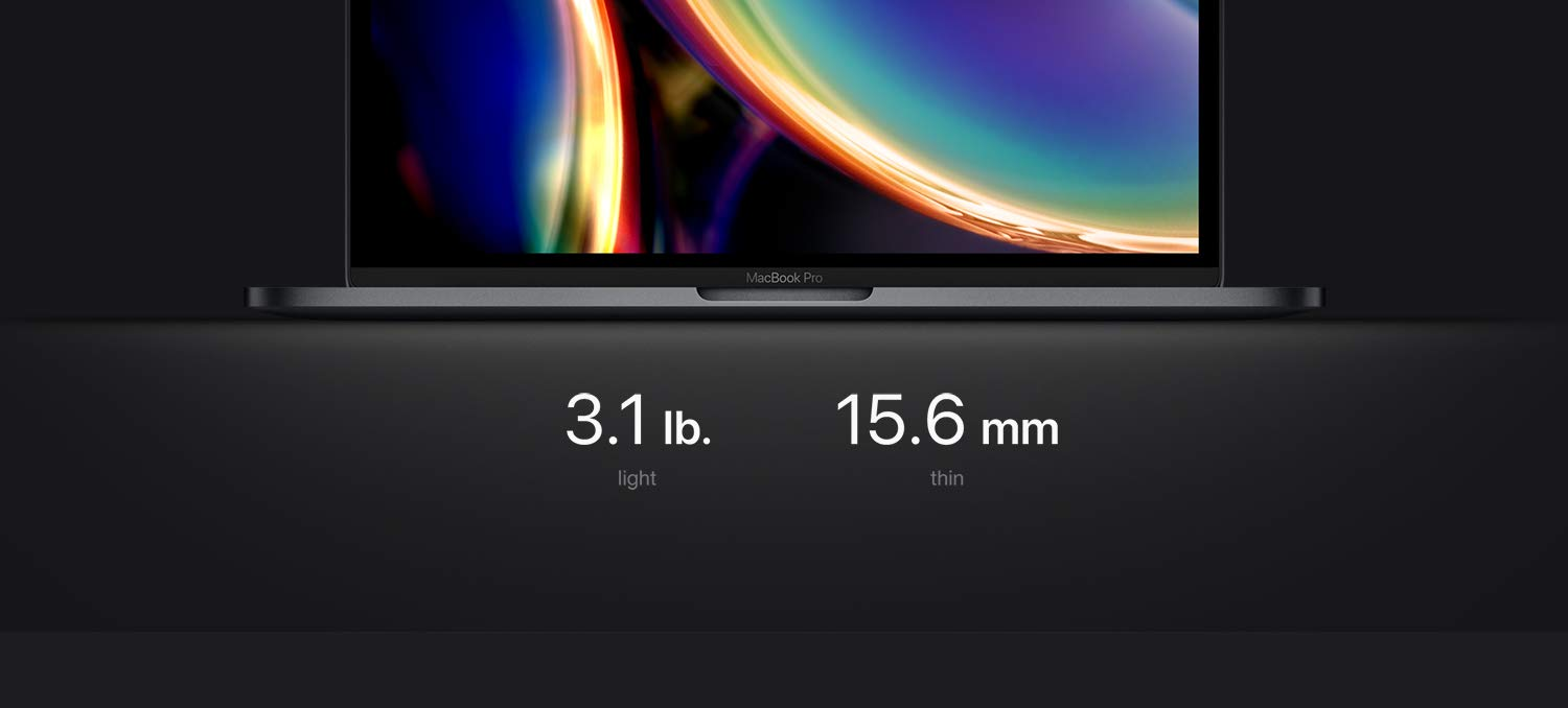 3.1 pounds; 15.6mm thin