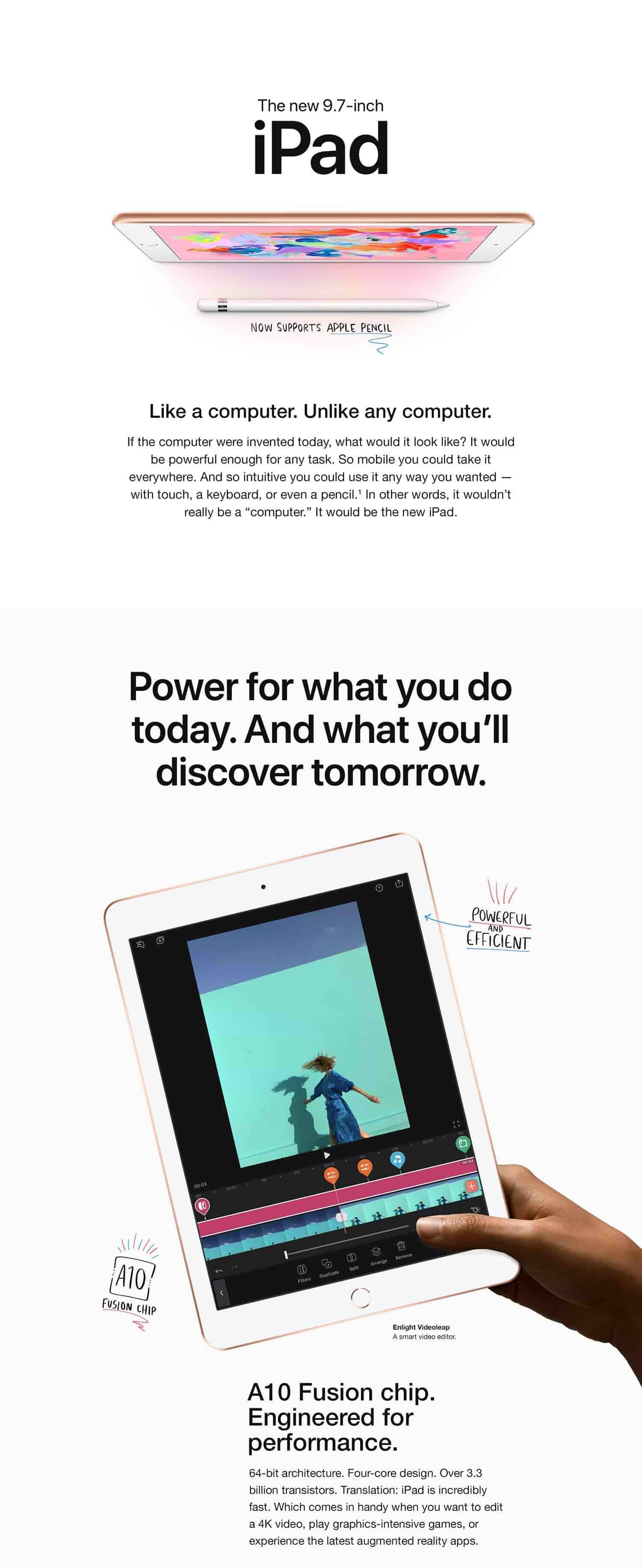 9.7in Gold latest model Brand New Sealed! Wi-Fi 32GB Apple iPad 6th Gen